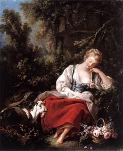 """""""La jardinera dormida"""". 1762, colección privada, Reino Unido"""