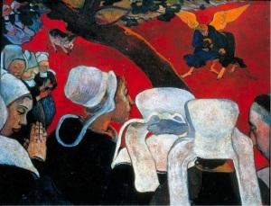 """Gauguin: """"Visión después del sermón"""", 1888"""