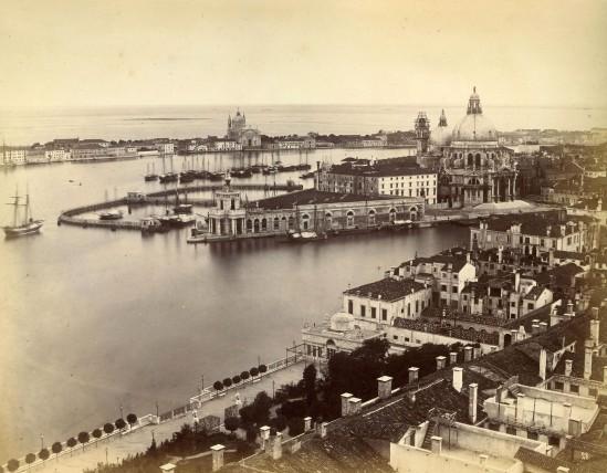 La Dogana y la Giudecca desde el Campanile. Finales de siglo XIX
